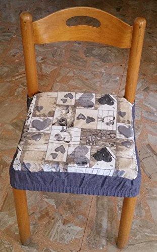 intimodagiovanni N.6 cuscini coprisedia quadrati universali sfoderabili con zip shabby chic grigio new style