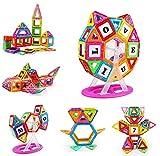 Construcciones Magneticas 100 Pieces Juguetes de Construcción 3D Juegos Educativos para Niños und Rueda de la Fortuna, Regalo de Cumpleaños con Bolsa de Almacenamiento para Niños de 3 4 5 6 7 8 Años