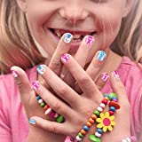 Aethland 144 Pcs Kids Fake Nails Press on Nails for Girls, Pre-glue Full Cover...