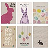 Papierdrachen Set de Tarjetas de Pascua con Papel de Regalo 12 Bonitas Tarjetas Postales para Pascua - Set de Tarjetas de felicitación 2
