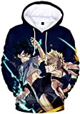 PANOZON Sudadera para Niños Impresa 3D Uniforme de Anime Japonés Manga Ninja para Jóvenes (M, Dos Personajes 11-5)