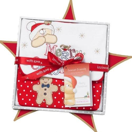 Izziwotnot Forever Friends Schneeflocke Weihnachten Baby Geschenk-Box, 3–6Monate