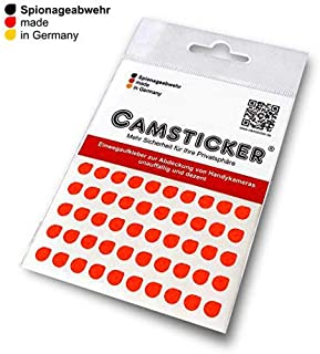 SPIONAGE Resistance - 50 pcs. CAMSTICKER Ø6 mm - Signal Red - Camera Sticker for Integrated Mini Webcams - Webcam Cover - Webcam Protection