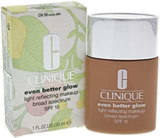 Clinique Even Better Glow Light Reflecting Makeup SPF 15-58 Honey by Clinique for Women, 30 milliliters