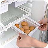 homeAct 2er Set Aufbewahrungsbox Kühlschrankbox Schublade Aufbewahrungskiste Weiß