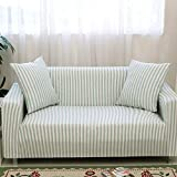 HYSENM Funda de asiento de 1/2/3/4plazas, para sofá y sillón, de algodón de bambú resistente,...