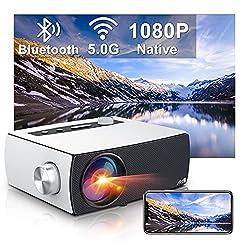 🔥【Videoprojecteur Full HD Natif 1080P】 Doté d'une résolution native de 1920x1080P et d'un rapport de contraste dynamique de 9000:1, offre une luminosité supérieure à 80+% par rapport aux autres projecteurs 1080p, offre une qualité d'image de type cin...