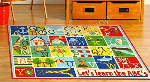 Smithsonian Teach Me Educational Kids Rug - Alphabet ABC by Teach Me