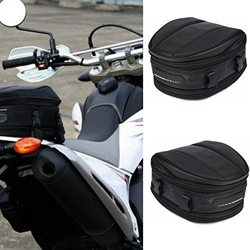 Motorrad-Heck-/Satteltasche für Motorräder, wasserdichte Rücksitztasche, Gepäcktasche, schwarz