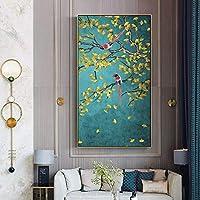 Flores y pájaros Carteles e impresiones Pinturas de lienzo chino Sala de estar Estudio Decoración del hogar Mural Imágenes