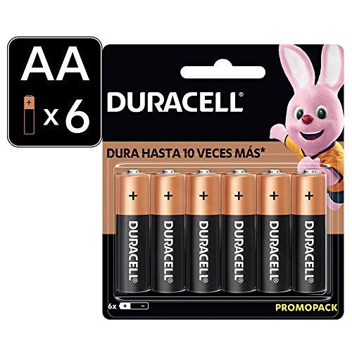 Duracell Pilas Alcalinas Duralock AA con 6 unidades