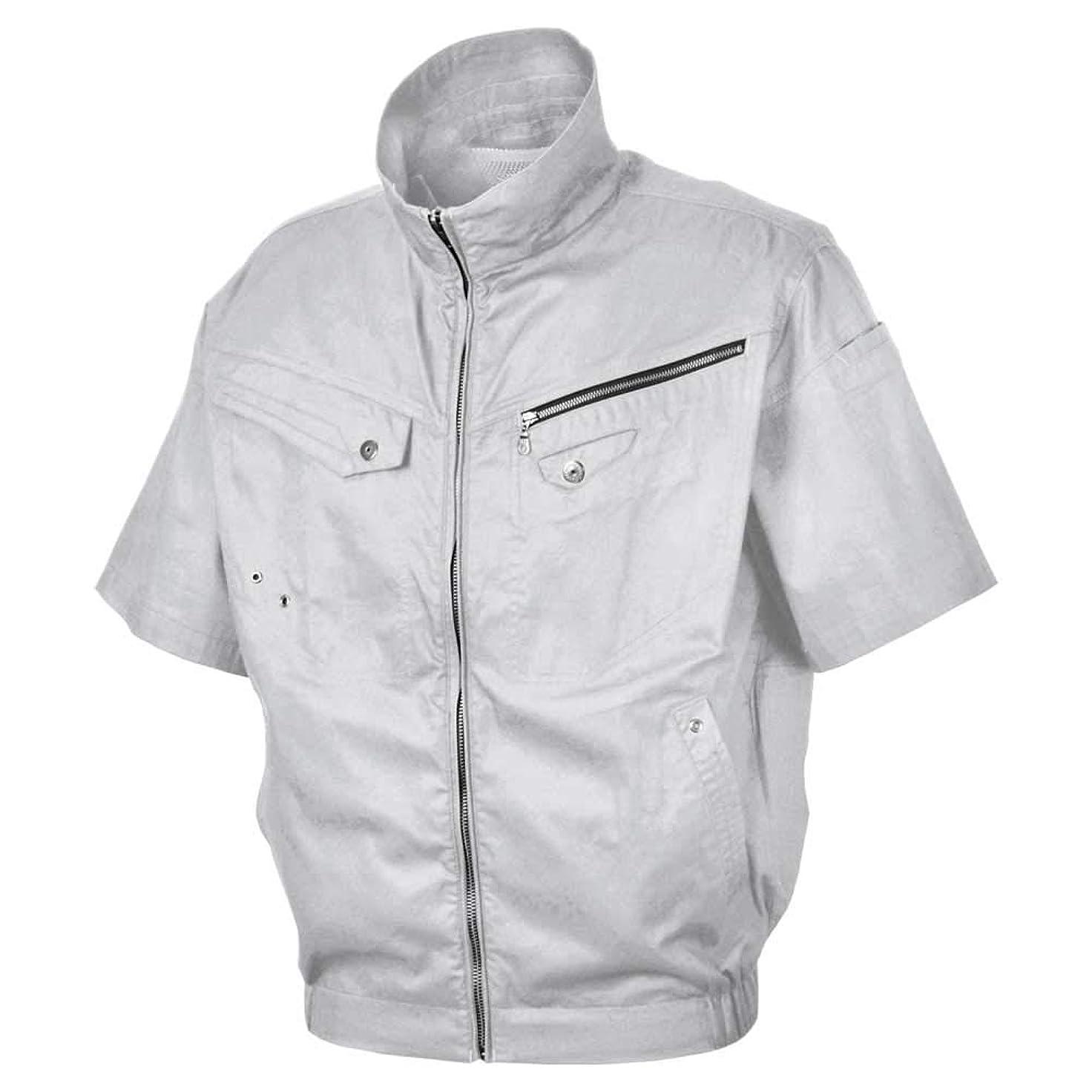 クロニクルステレオキモい空調服 S-AIR ソリッドコットン半袖ジャケット(ファンなし) 05931
