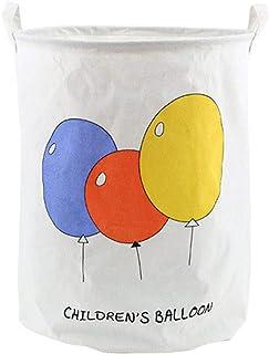 MJY Panier à linge, ballon Panier à linge Design de mode Sac de rangement épais et de grande capacité, résistant, avec poi...