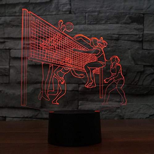 3D led-spelletjes, tafellamp, usb, 7 kleuren, wisselend, nachtlampje, slaapkamerdecoratie, verlichting volleybalfans, cadeaus, kleurrijke romantische cadeaus voor kinderen en vrienden