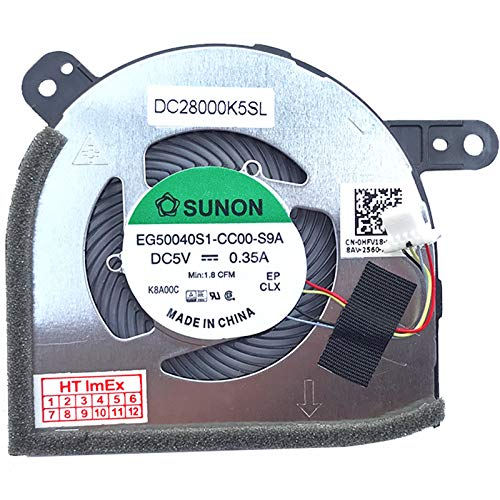 Fan Cooler Compatible with Dell Latitude 12 5285, Latitude 5285, Latitude 5285, Latitude 5290