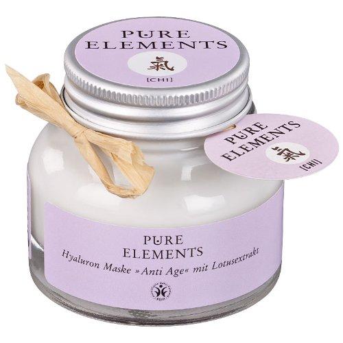 Pure Elements Naturkosmetik Chi Hyaluron masker anti-aging met lotusextract 50 ml