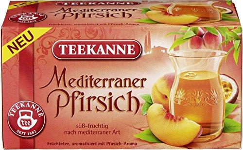 Teekanne - Mediterraner Pfirsich Früchtetee - 20Bt/50g