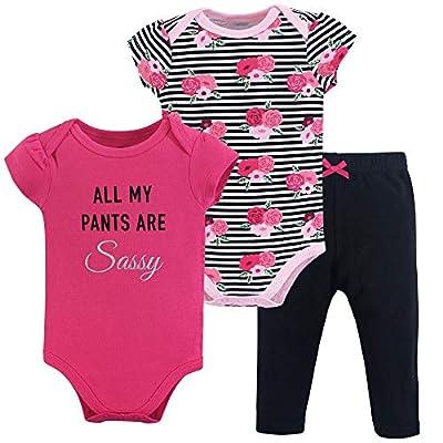 Little Treasure Unisex Baby Cotton Bodysuit and Pant Set, Sassy Pants, 6-9 Months