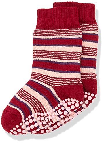 FALKE Unisex Kinder Mixedstripe Cp Socken Stoppersocken, rot (berry 8106), 39-42