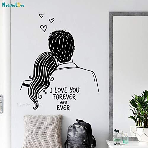 ganlanshu Ich Liebe Dich für Immer und alle Wandaufkleber setzen Poster Wohnaccessoires Wohnzimmer Mädchenzimmer süßes Hintergrundbild 75cmx93cm