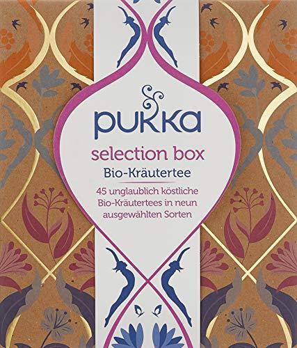 Pukka Selection Box, Kollektion ausgewählten Bio-Kräutertees (1 Box, 45 Bio-Teebeutel),  75 g