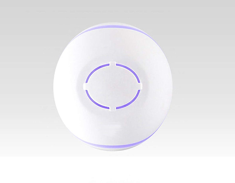 影寳服装店 USB加湿器、車室用超音波アロマエッセンシャルオイルディフューザー (色 : ホワイト)