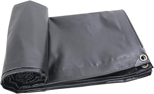 Duanguoyan Bache- Toile imperméable Toile Noire Toile Noire imperméable bache de Prougeection Solaire imperméable (Couleur   noir, Taille   4X8m)