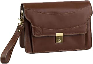 SevenK Baguette Bags Leather Brown For Unisex