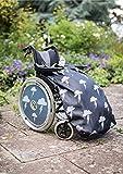 Fußsack für Rollstühle für Erwachsene - Fleece-Futter - wasserdicht - Universalgröße Einfach zu befestigen -