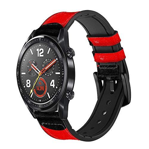 Innovedesire Ladybugs Dot Pattern Smart Watch Armband aus Leder und Silikon für Wristwatch Smartwatch Smart Watch Größe (22mm)