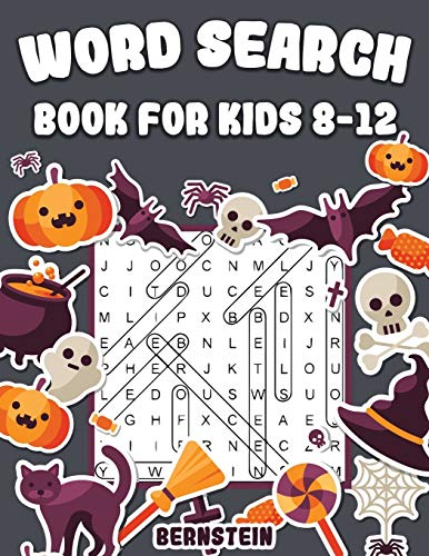 Word Search for Kids 8-12: 200 Fun Word Search Puzzles for Kids with Solutions - Large Print - Halloween Edition