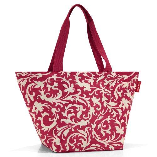 Reisenthel Shopper M, Tasche für Einkauf, Einkaufstasche, baroque ruby / rot-weiß gemustert, ZS3033