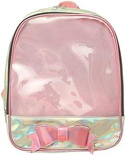 Ita Mochila transparente con ventana transparente para verano, bolsa de playa para mujeres, mujeres y niñas, Pink (Rosa) - UU-BP-0707-001-Pink