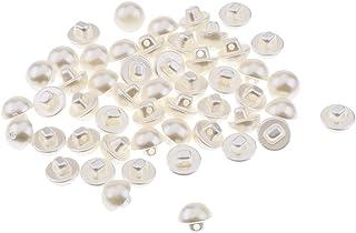 Homyl 50 Pcs Plástico Imitação De Pérolas Botões De Roupas De Costura Para Roupas Artesanato Diy - 10mm