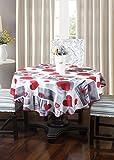 Frenessa Mantel Redondo Antimanchas Impermeable, Manteles Estampados para Comedor Cocina Casa Hotel...