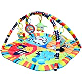 Baby Playmats, TAPCET 35.43'X35.43' Activity Play Mat Animal Pattern Gym Baby Gyms with 5 Hanging...