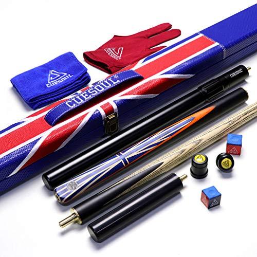 "CUESOUL 57""Handcraft 3/4 Ebenholz Snooker Queue mit Union Jack Flag Design"