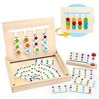 MontessoriSpielzeug Holz Puzzle Sortierbox Kinder Lernspielzeug mit Sanduhr ab 3 4 5 Jahre alte Jungen und Mädchen,(MEHRWEG)