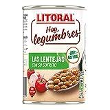 LITORAL Hoy Legumbres Lentejas con su sofrito, Plato Preparado de Legumbres Lentejas Sin Gluten - 435 gr