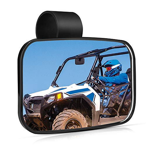 "2021 UTV Mirror, ISSYAUTO Clear Convex Mirror with ShatterProof Tempered Glass and 1.5""-2"" Mount Compatible with 2021 Polaris RZR PRO XP, Commander and Maverick X3, Viking, Rhino, Honda, Kubota RTV"