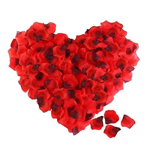 ETEREAUTY Rosenblätter, 3000 Stück Rosenblüten - Dekoration für Romantische Atmosphäre und Hochzeit Party, Valentinstag Deko, Geburt, Taufe, Datierung