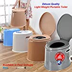 Denny International 【LIGHT WEIGHT】 Large 6L Compact Portable Toilet Potty Loo with Washable Basket and Toilet Roll…