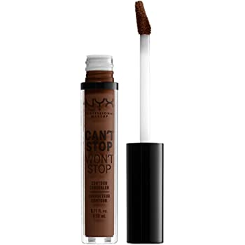 NYX PROFESSIONAL MAKEUP Can't Stop Won't Stop Contour Concealer - Deep Walnut, With Cool Undertone