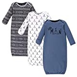 Yoga Sprout Unisex Baby Cotton Gowns, Little Man, 0-6 Months