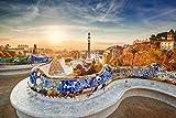 Barcelona City Skyline Art XXL Wandbild Kunstdruck Foto