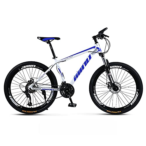 UYHF 21/24/27 Velocidad Bicicleta De Montaña para Hombres Adultos Rueda De 26', Bicicleta De Acero con Alto Contenido De Carbono, Bicicleta De Montaña De Velocidad Varia E- 24 Speed