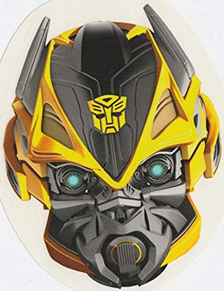 4 Bumblebee Transformers Autobots Age Of Extinction Robots Removable Peel Self Stick Adhesive Vinyl Decorative Wall Decal Sticker Art Kids Room Home Decor Boy Children Nursery 3 X 4 Inches