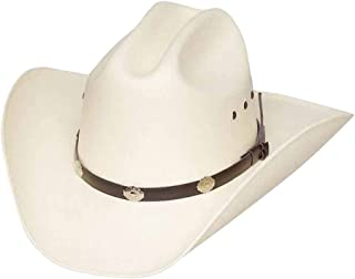 99659848fee1e Authentic Classic Cattleman Straw Cowboy Hat with Silver Conchos Child Size  (White)