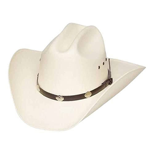 Western Express Classic Cattleman Straw Cowboy Hat with Silver Conchos f2ba2647d7c0
