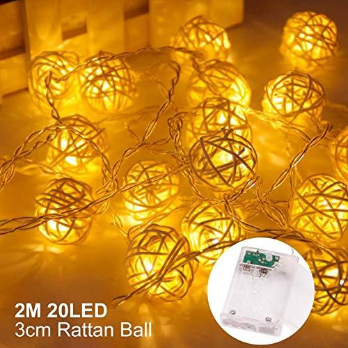 Christmas Photo Clip Light Kerstversiering voor thuis kerstboom hanger Vrolijk Nieuwjaar WSJKHY 20 Led Rattan Ball